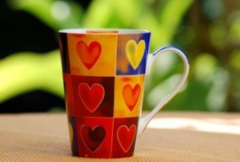 Tasse mit Herz   Essen & Trinken » Getränke   Sylvia Voigt / pixelio