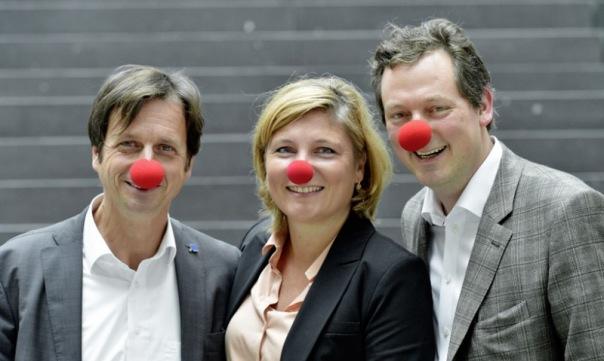Birgit Langebartels und Stephan Grünewald vom Rheingold Institut und Eckart von Hirschhausen