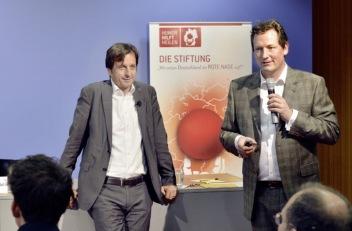 Stephan Grünewald vom Rheingold Institut und Eckart von Hirschhausen