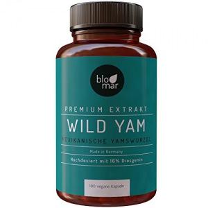 Yamswurzel Kapseln · Mexican Wild Yam · hochdosierter Premium Extrakt mind. 16% Diosgenin · 180 Kapseln á 450mg · natürliches Progesteron · Made in Germany