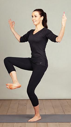Yoga-Übung Tanzende Shiva