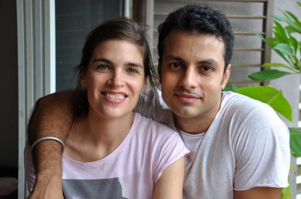 Judith Döker mit ihrem Mann
