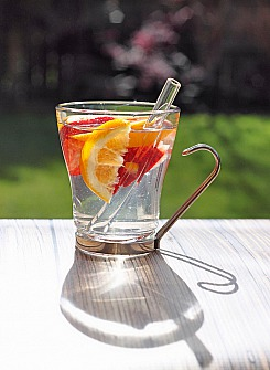 Infused Water with a Shorty Straw