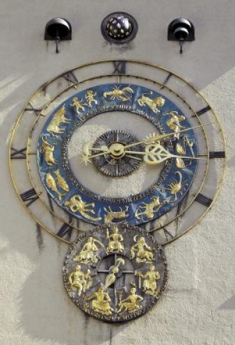 Uhr am Deutschen Museum München | Architektur » Details | Kunibert / pixelio