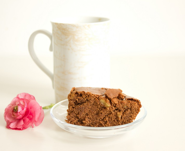 Brownies aus dunkler Schokolade