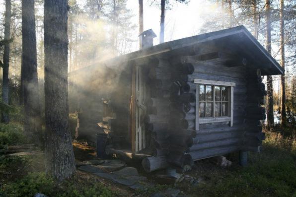 Smoke sauna Varkaus Finland