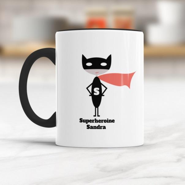 RADBAG: Superheldin-Sandra - personalisierbare Tasse
