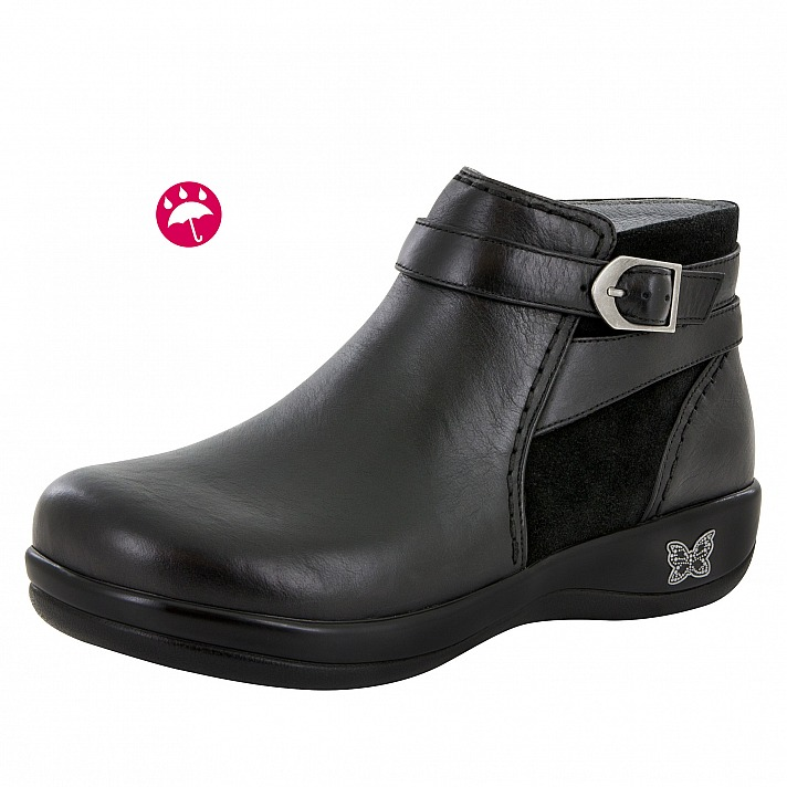 Alegria: Dylan Black Nappa Water-Resistant Boot