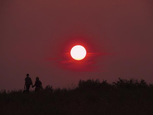 Sonnenuntergang rot paar liebe zusammen freundschaft fill/pixabay 1
