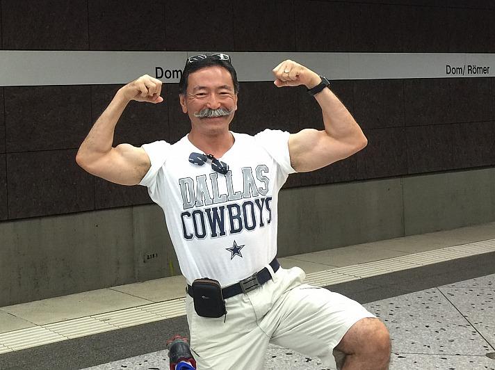 Yusuke Yahagi: Mit Shirt von den Dallas Cowboys