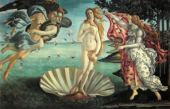 Sandro Boticchelli, Birth of Venus (Uffizi)