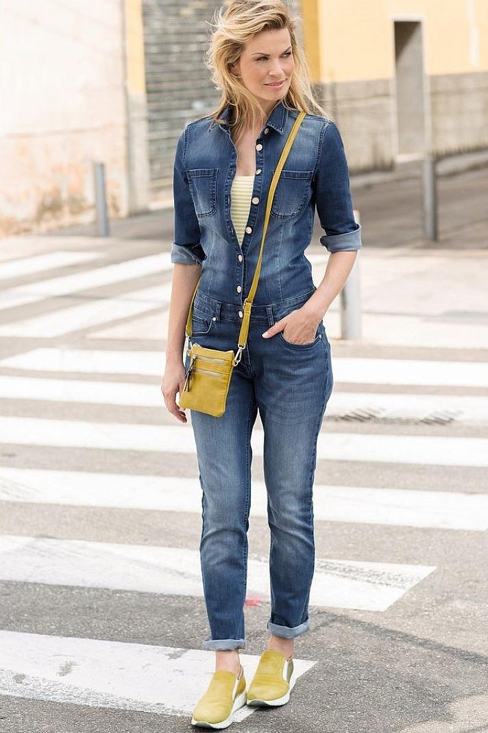 Qiéro! Jeans-Overall kurz