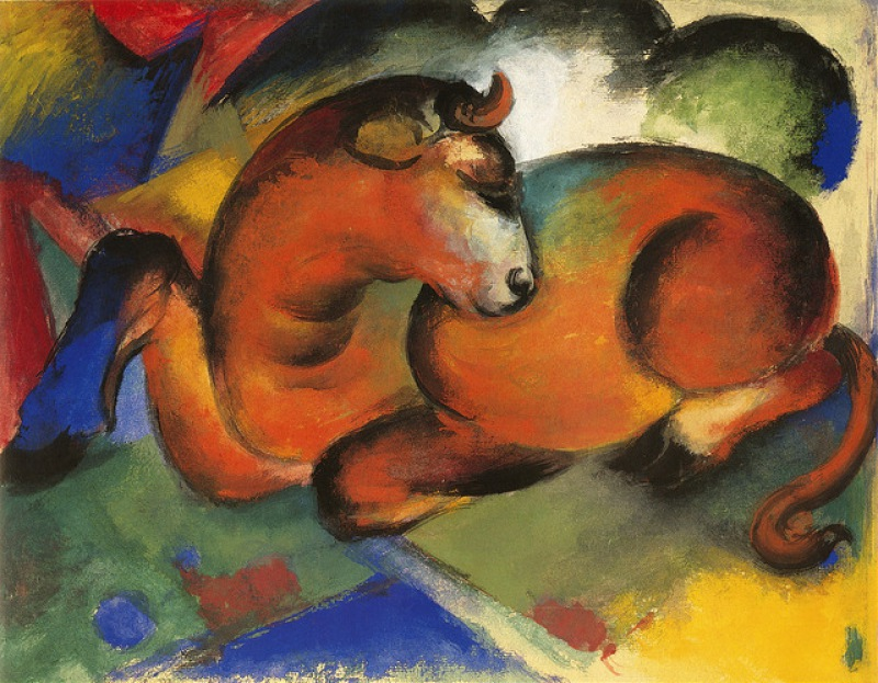 Franz_Marc_Roter_Stier,_1912