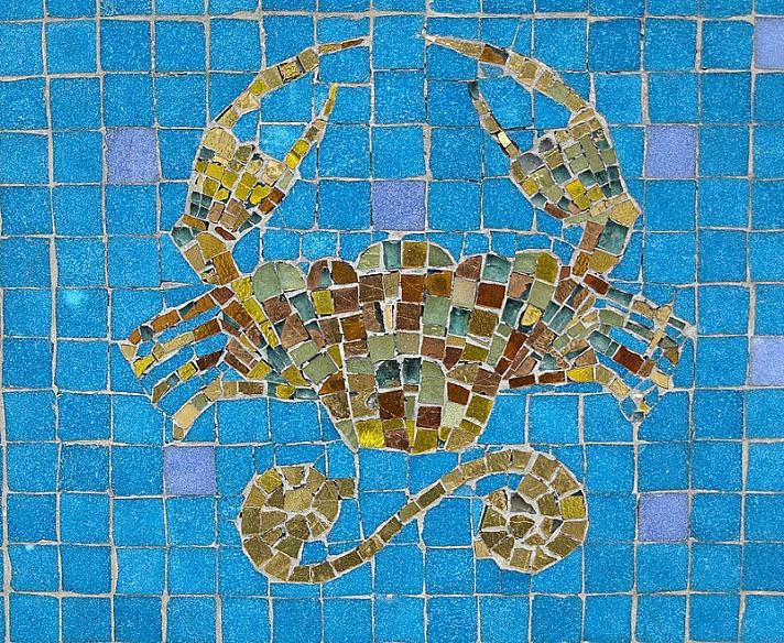 mosaic crab - Eine poetische Reise durch den Tierkreis:  Der Krebs ~ der Sprunghafte