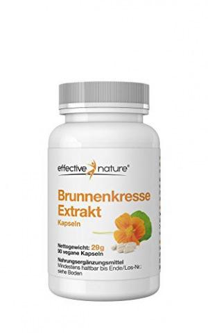 effective nature Brunnenkresse Extrakt - 90 Vegane Kapseln - Hochkonzentriert - 29g
