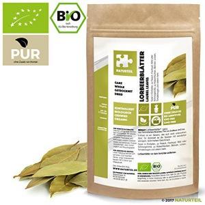 NATURTEIL – BIO Lorbeerblätter Ganz - 100g - Gewürz, Vegan, frei von Zusätzen | Organic Laurel leaves whole