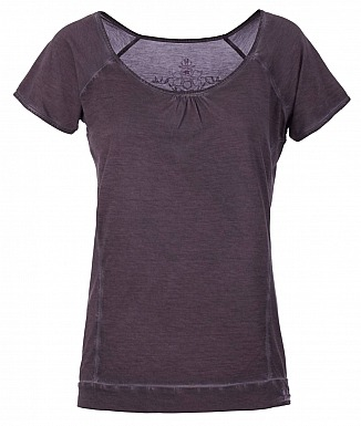 Kamah Yoga: Basic Shirt LASHANA, charcoal