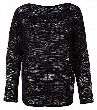 Kamah Yoga: Lounge Mesh Shirt Langarm PEGGY, charcoal