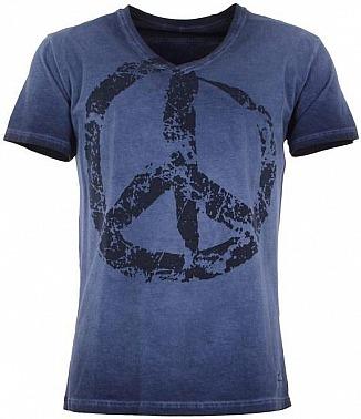 Kamah Yoga: Lounge Shirt Kurzarm TASSO, blue