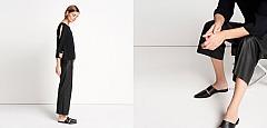 someday: fashion trends all in black - schwarze Bluse - schwarze Culotte