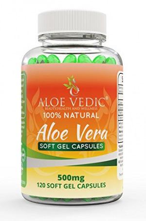 AloeVedic Aloe Vera Natural Gel Kapseln