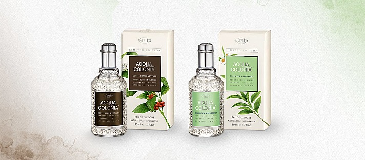 Green Tea & Bergamot Eau de Cologne - Coffee Bean & Vetyver Eau de Cologne