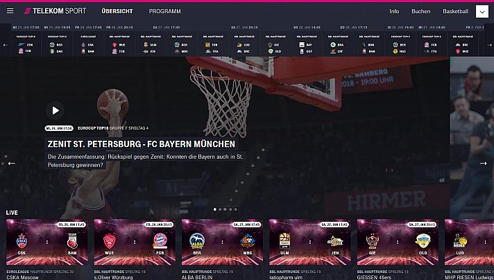 Die easyCredit Basketball Bundesliga im Telekom Sportpaket