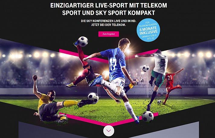 Einzigartiges Sporterlebnis mit dem Telekom Sportpaket