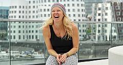 Riccarda Kolb über den Dächern
