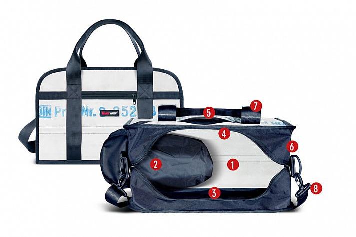Feuerwear: Innenansicht mit Ziffern - Sporttasche Harris