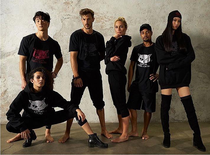 kamah: T-Shirt TONI, black/black