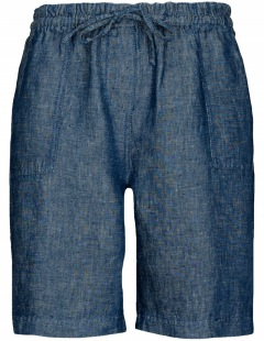 Basefield: Leinenshorts - Jeansblue
