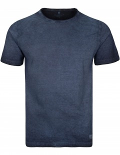 Basefield: Rundhals T-Shirt - Blue Navy Stripes