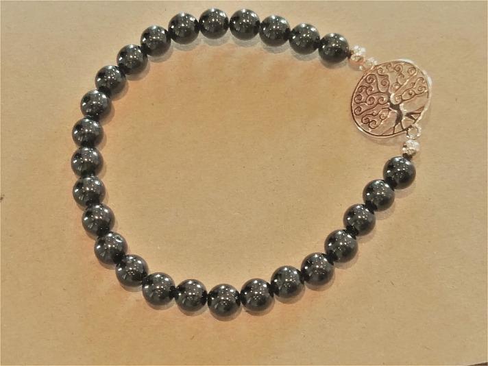 Stoneberry: Symbolarmband Baum des Lebens - rosévergoldet mit Onyx