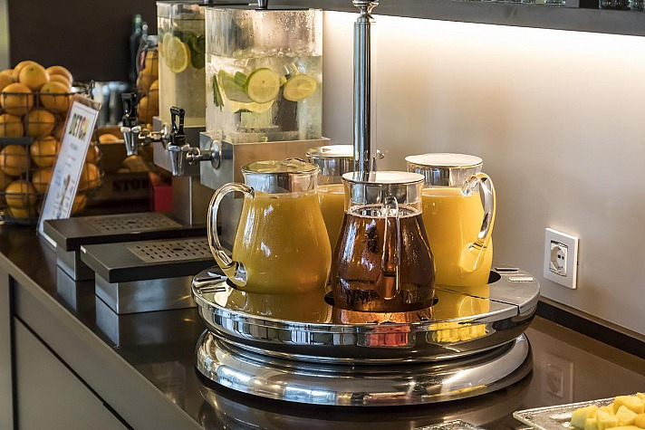 Aqualux Hotel Spa: mit gut aufgestelltem Frühstücksbuffet