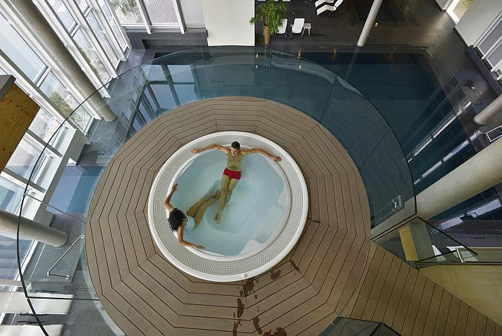 Aqualux Hotel Spa: Viele Gäste genießen die wohltuende Thermalbad/Mineralquelle