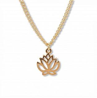 Anisch de la Cara: Lotus ? Talisman Kette, Shiny Gold, 35 cm