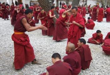 Unterrichtung der Novizen im Kloster Sera (Lhasa) | Menschen | Claus Bünnagel / pixelio