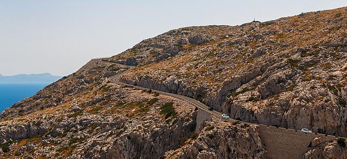 Auf der 13,5 Kilometer langen Straße zum Cap de Formentor ist eindeutig der Weg das Ziel