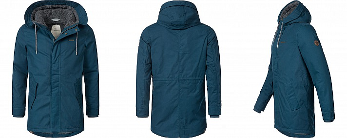 YOUMODO: Ragwear Winterparka Winterjacke Mr Smith Blau