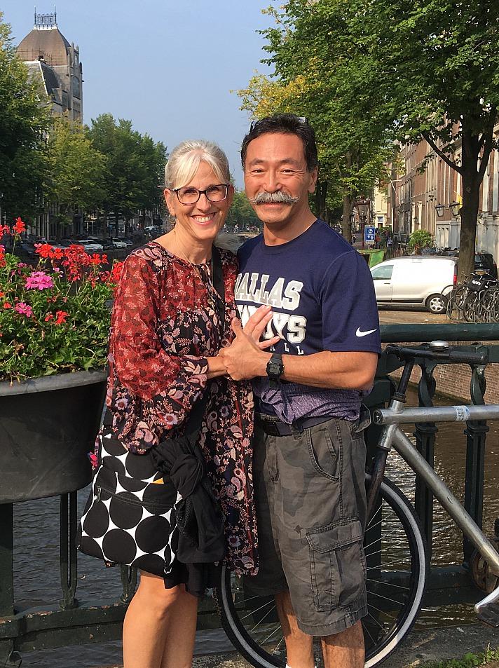 Yusuke Yahagi mit April in Amsterdam
