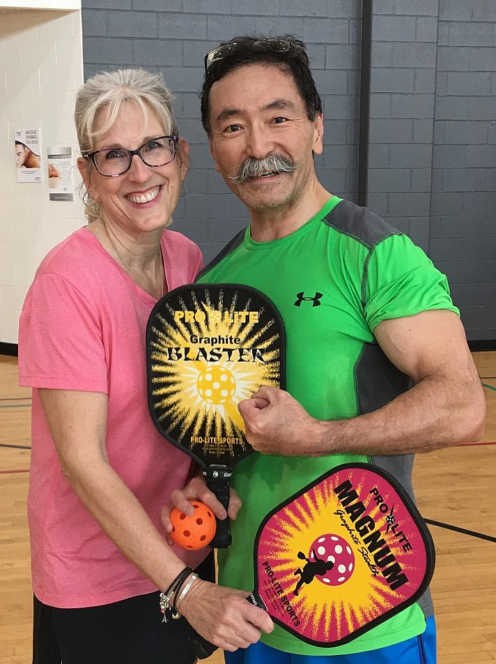 Yusuke Yahagi mit seiner Frau April