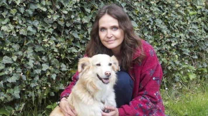 Daniela Böhm mit ihrem Hund