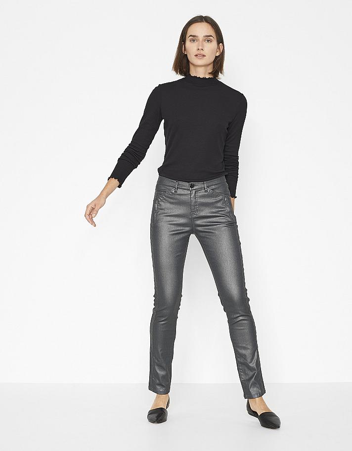 OPUS: Coated-Jeans Emily metallic