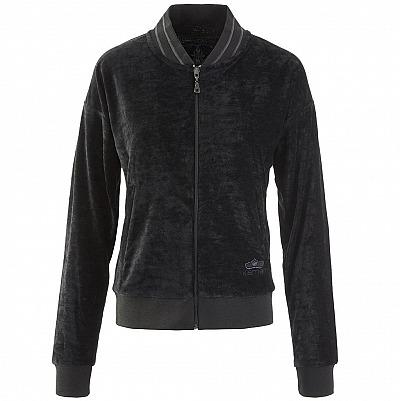 kamah: TIEN - Zipper Jacke aus Samt im Trainingsstil, Farbe: charcoal