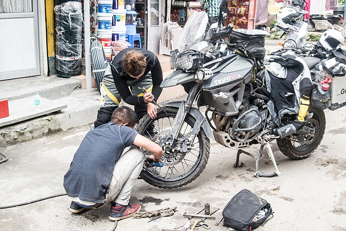 Lea Rieck Got2Go: Panne, Platter Reifen India