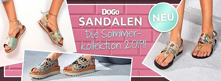 Bunte Schuhe, luftige Sandaletten und stylische Taschen von DOGO