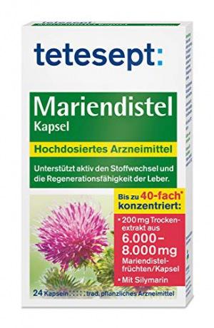 Mariendistel Kapsel - Traditionell pflanzliches Arzneimittel mit Mariendistelextrakt und einem hohen Gehalt an Silymarin - unterstützt die Regenerationsfähigkeit der Leber - 1 x 24 Stück