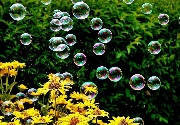 Ich finde, Seifenblasen machen glücklich!