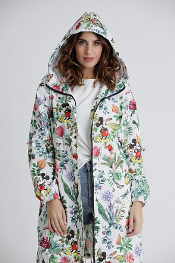 Princess goes Hollywood: Disney Mickey Blumen Regenjacke